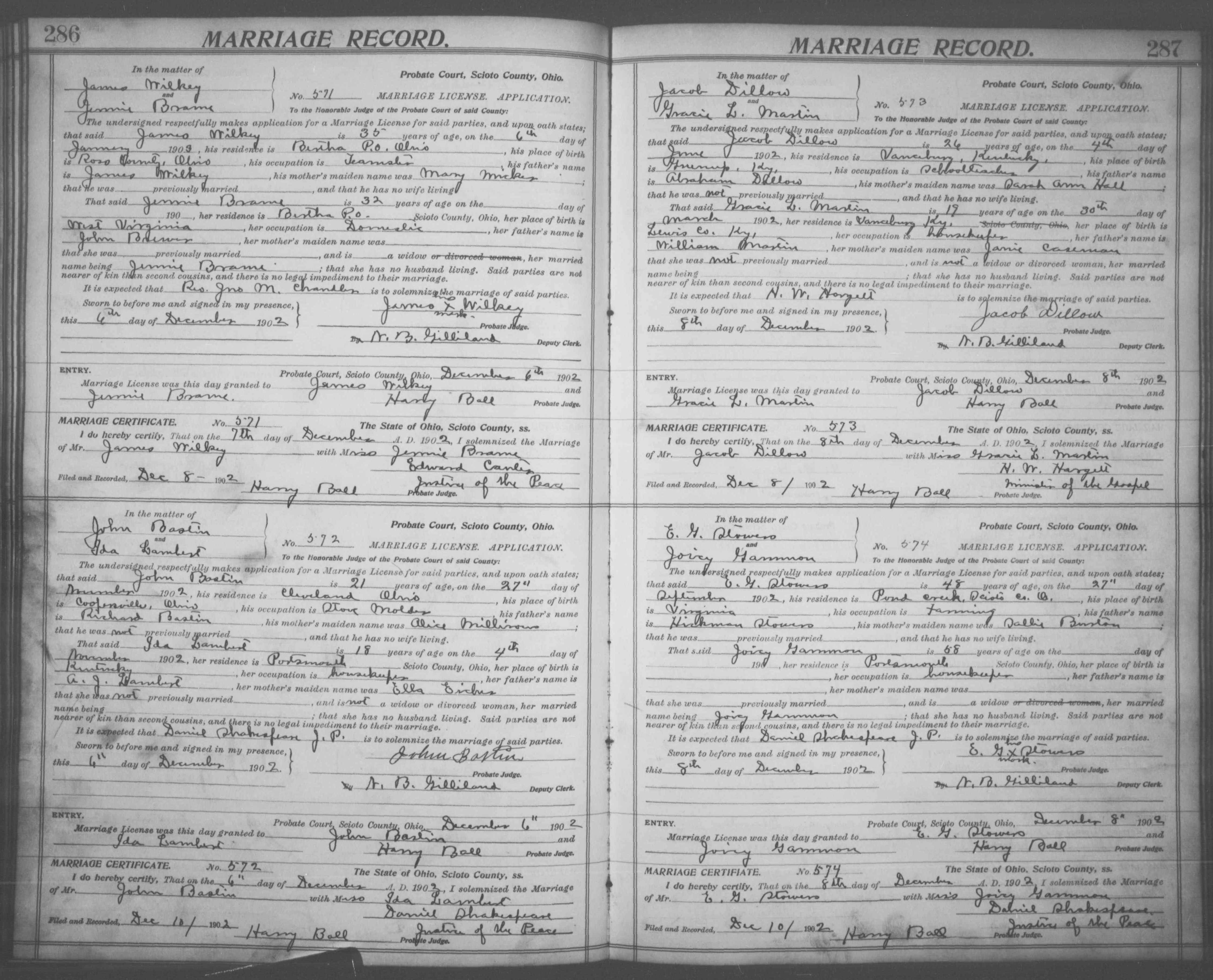 Nazdar digital genealogy archives relatives of the eicher family marriage certificate aiddatafo Images