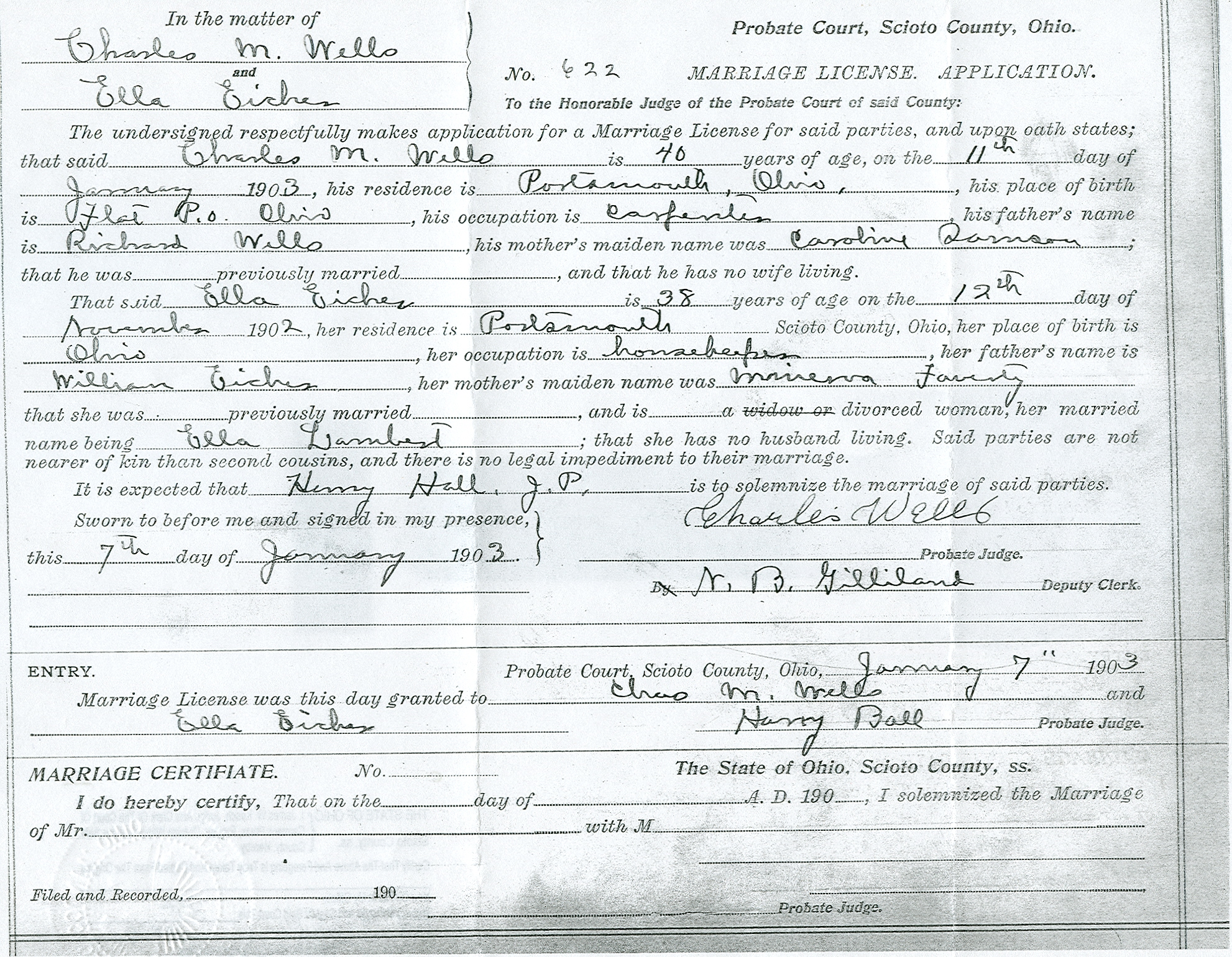 Nazdar digital genealogy archives relatives of the eicher family marriage certificate xflitez Image collections