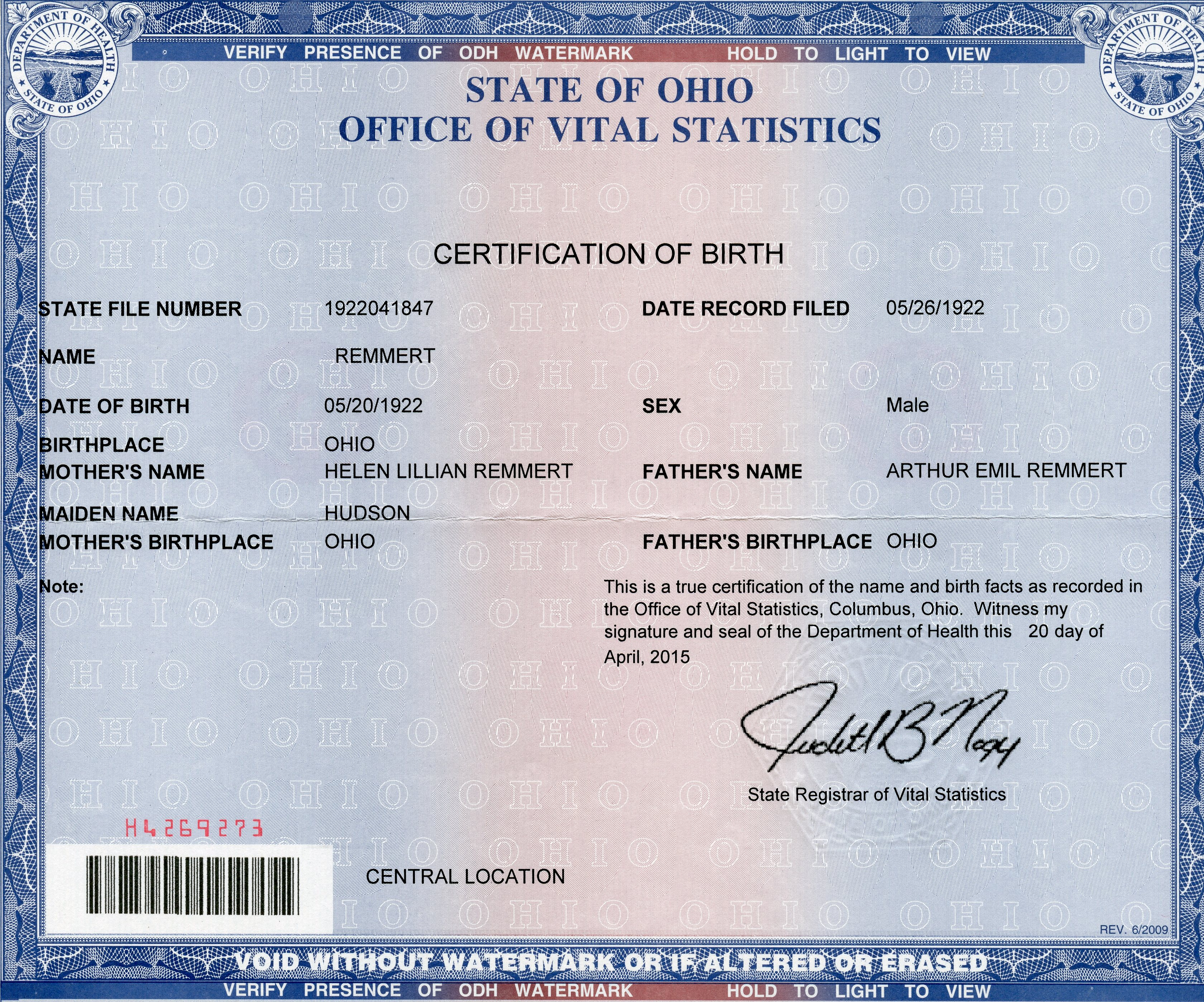 Birth certificate franklin county ohio images birth certificate born in ohio and need a copy of your birth certificate fast we 1betcityfo Image collections