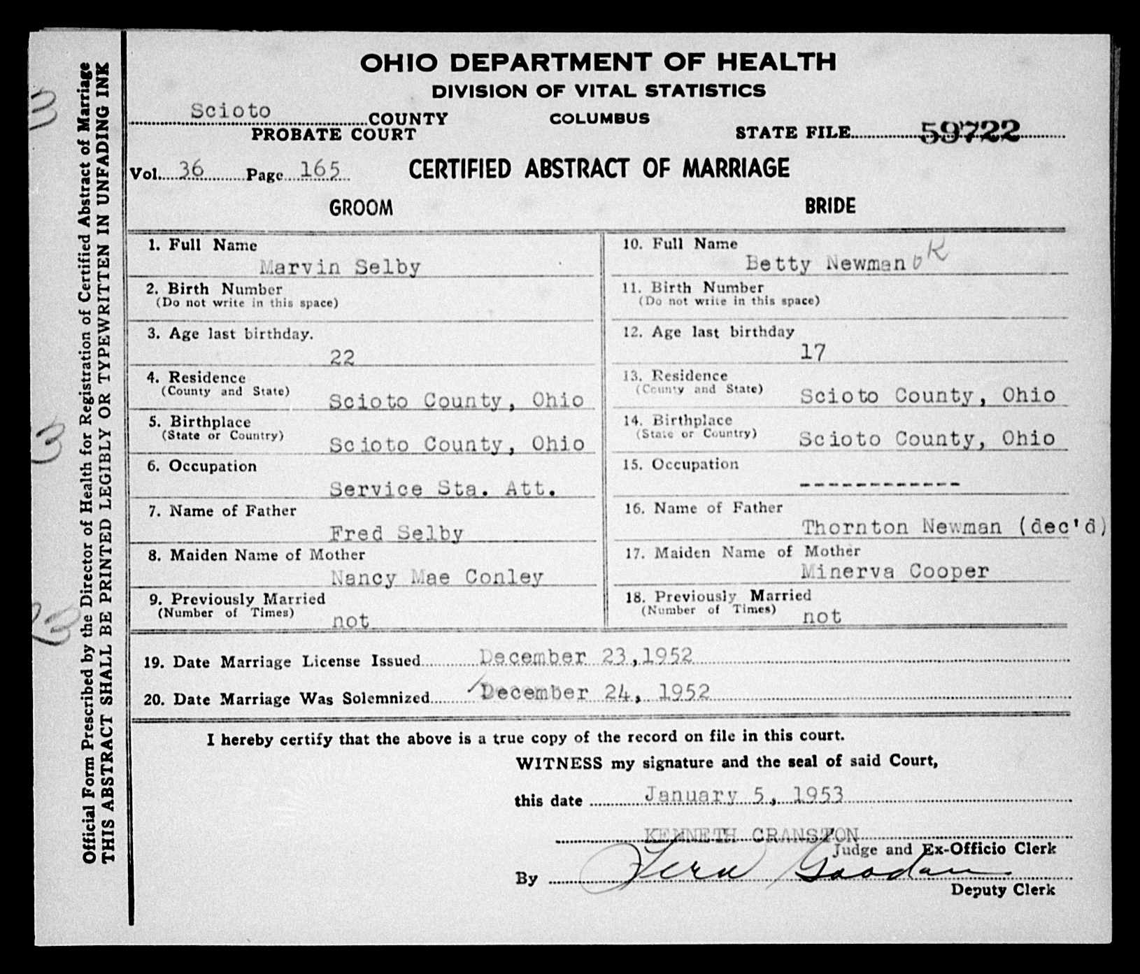 Nazdar digital genealogy archives relatives of the eicher family death certificate of husband 1965 minerva jewell cooper is the informant on the death certificate of william joseph martin aiddatafo Gallery